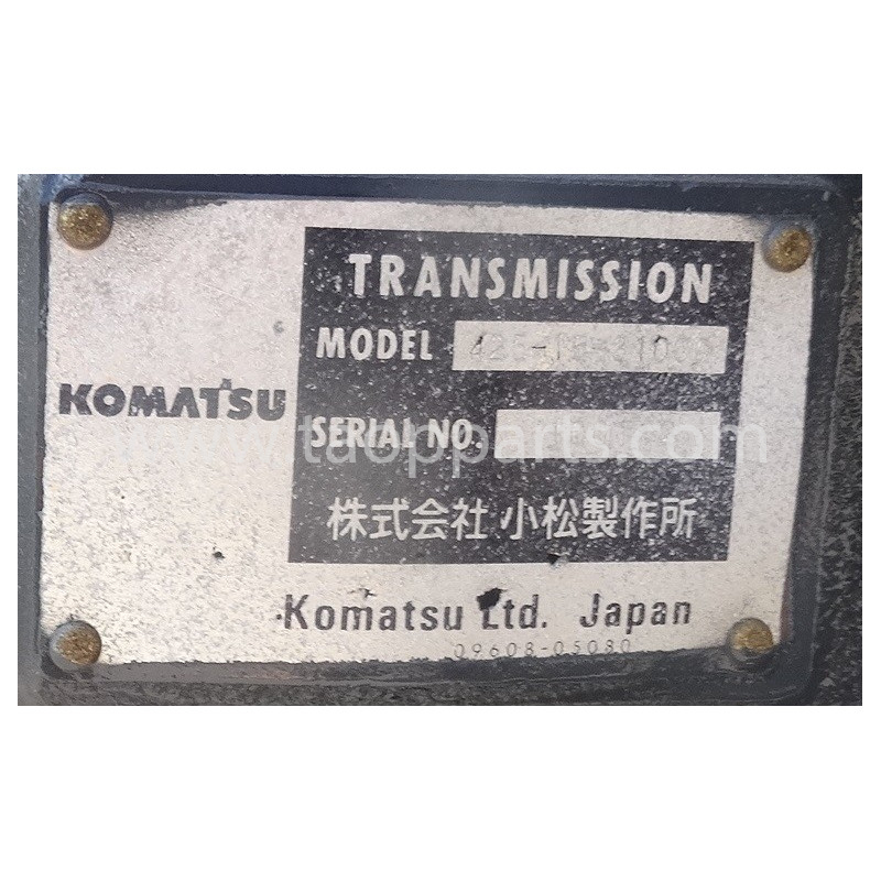 Transmission Komatsu 425-15-31000 pour WA500-6 · (SKU: 4946)