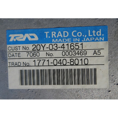 Radiador Komatsu 20Y-03-41651 para PC210-8 · (SKU: 927)