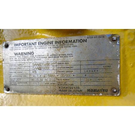 MOTOR Komatsu SAA6D108E-2 para PC340-6 · (SKU: 805)