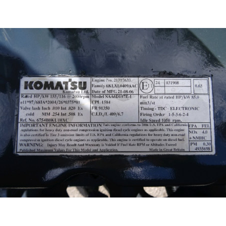 used Komatsu Engine...