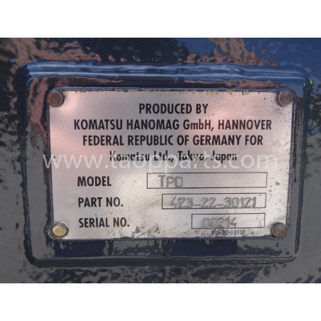 Komatsu Axle 423-22-30121 for WA430-6 · (SKU: 1491)
