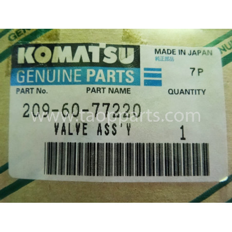Komatsu Valve 209-60-77220 for PC1250 · (SKU: 1638)