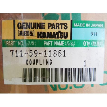 Komatsu Flange 711-59-11861 for WA600-1 · (SKU: 1643)