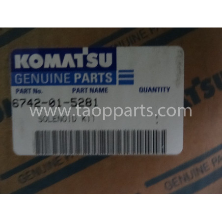 Solenoide Komatsu 6742-01-5281 para PW200-7 · (SKU: 1985)