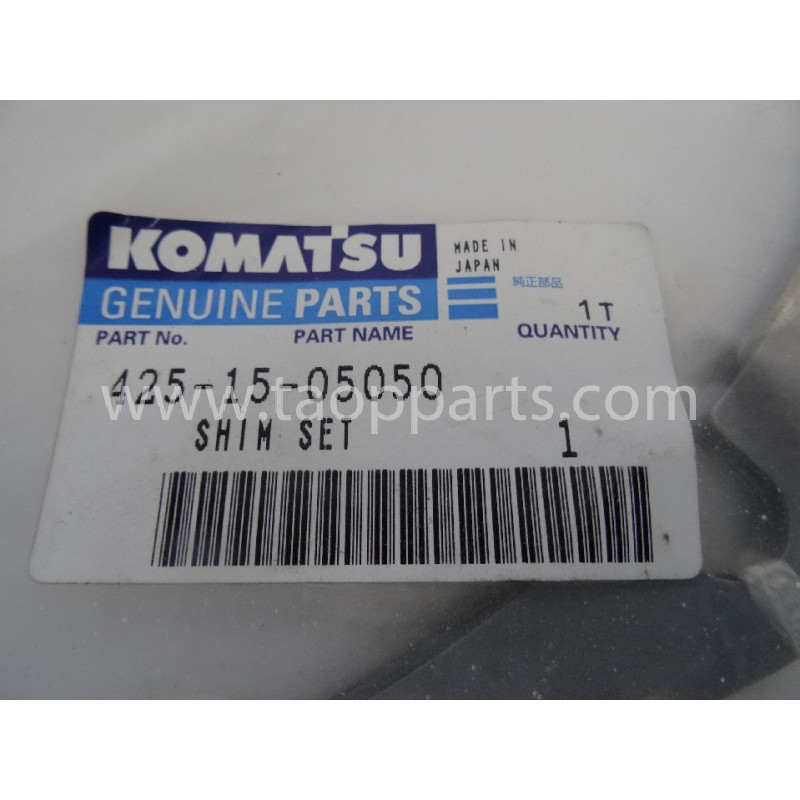 Laminas de ajuste Komatsu 425-15-05050 para maquinaria · (SKU: 2877)