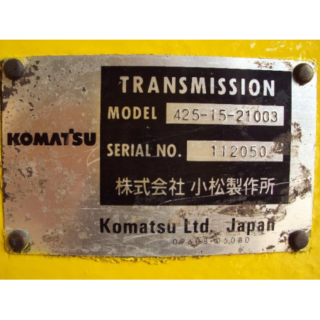 Komatsu Transmission 425-13-21004 for WA500-3H · (SKU: 418)