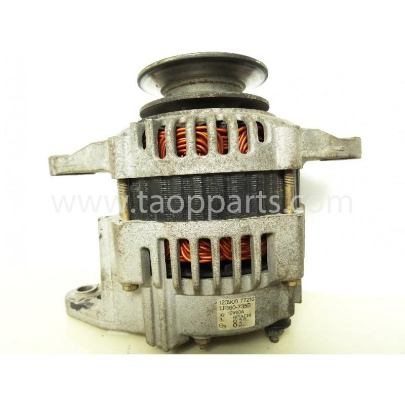 Alternador usado Komatsu YM123900-77210 para WB91R · (SKU: 3721)