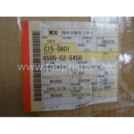 Turbocompresor Komatsu 6505-52-5450 para PC750-6 · (SKU: 269)