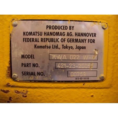 Eje Komatsu 421-23-20052 para WA470-3 ACTIVE PLUS · (SKU: 527)