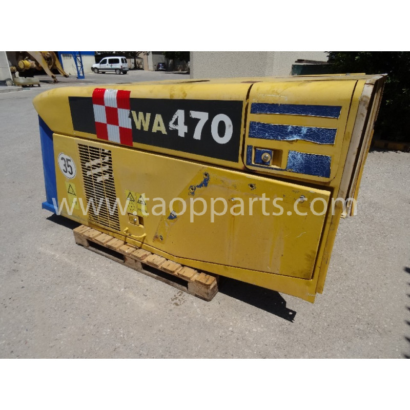 Capot Komatsu 421-54-H1A01 pour Chargeuse sur pneus WA470-5H · (SKU: 50584)