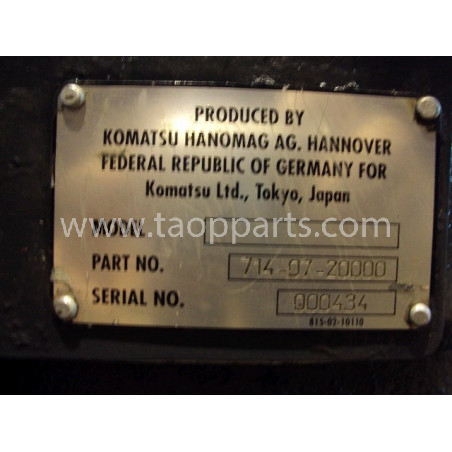 TRANSMISION Komatsu 714-07-20000 para WA470-5 · (SKU: 694)