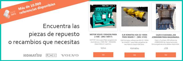 Recambios Komatsu Volvo JCB