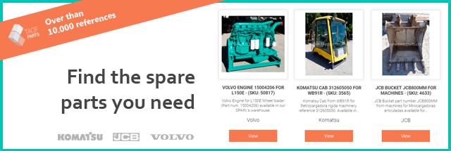 Find the used spare parts komatsu volvo jcb
