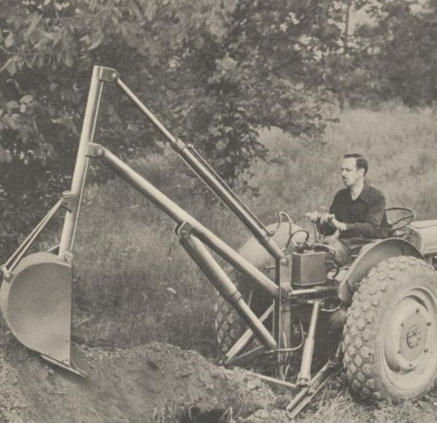 The first backhoe