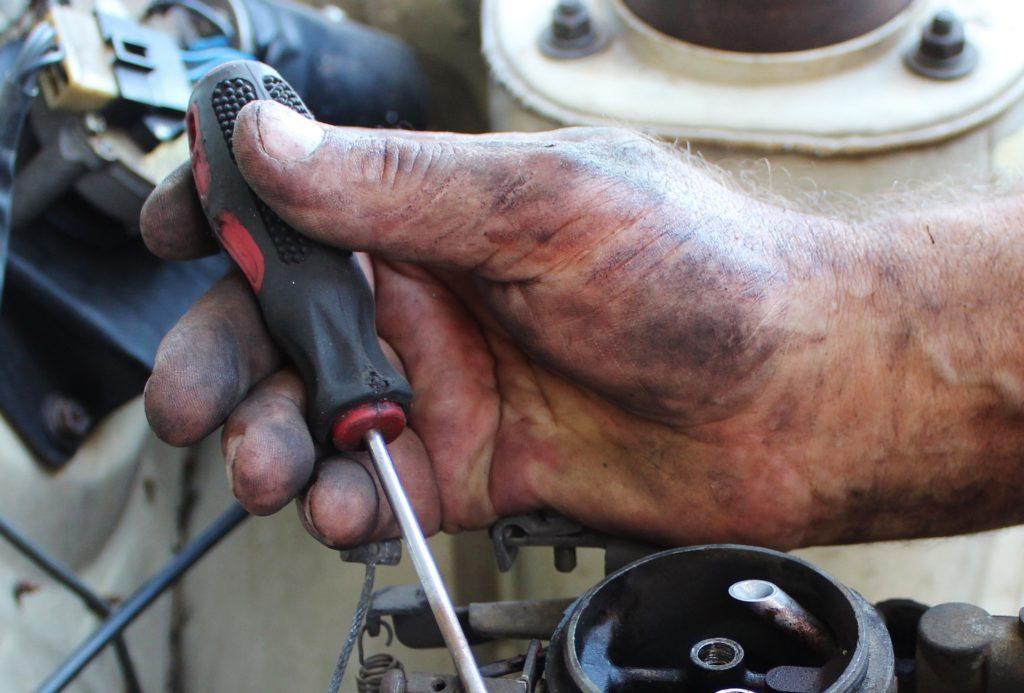 dirty mechanic hand